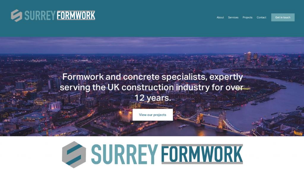 rikkiwebster.com surrey formwork website design and build