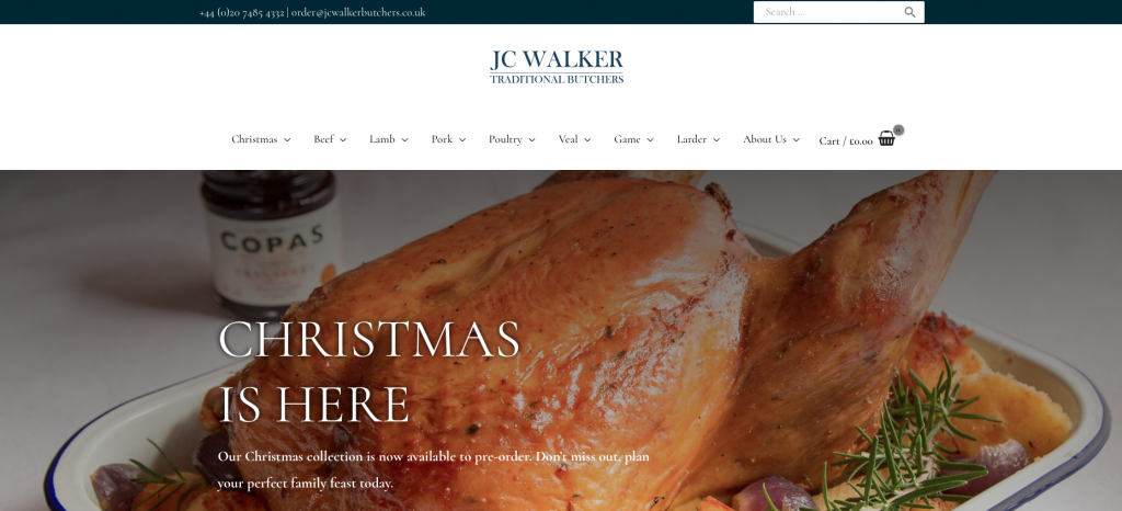 jc walker traditional butchers kentish town nw5 1da ecommerce website build rikkiwebster.com