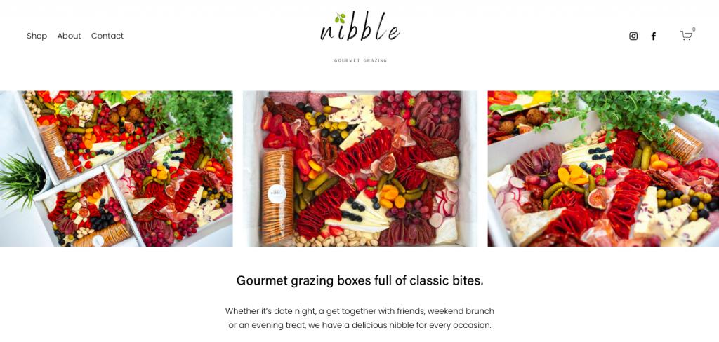 rikkiwebster.com website builder designer nibble gourmet grazing 1