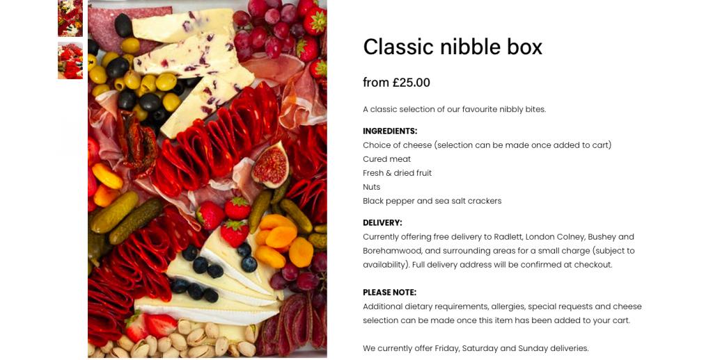 rikkiwebster.com website builder designer nibble gourmet grazing 3