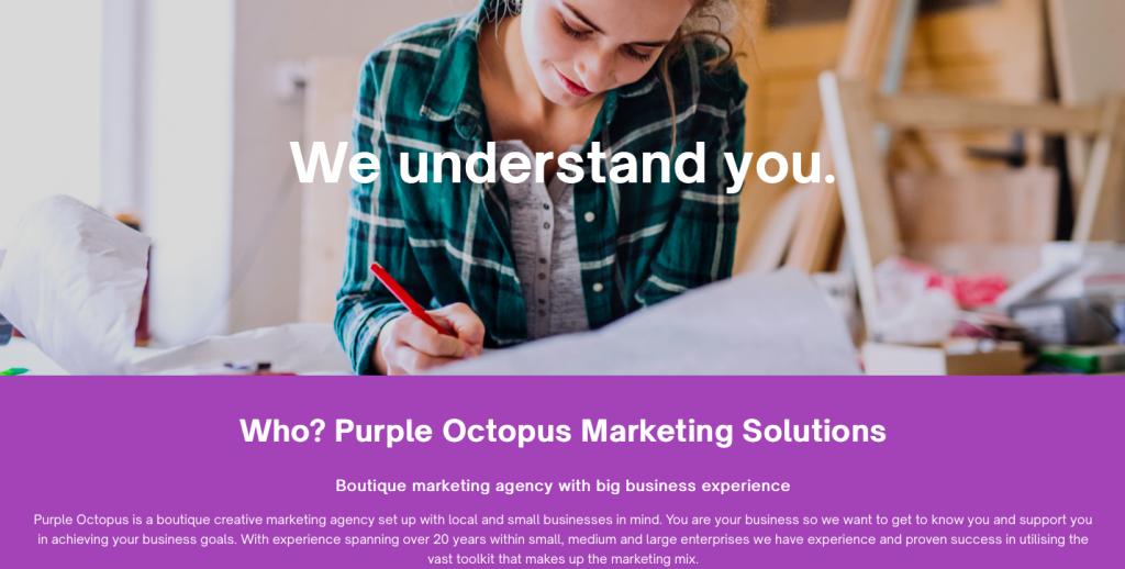 rikkiwebster.com website design and build purple octopus marketing solutions 1