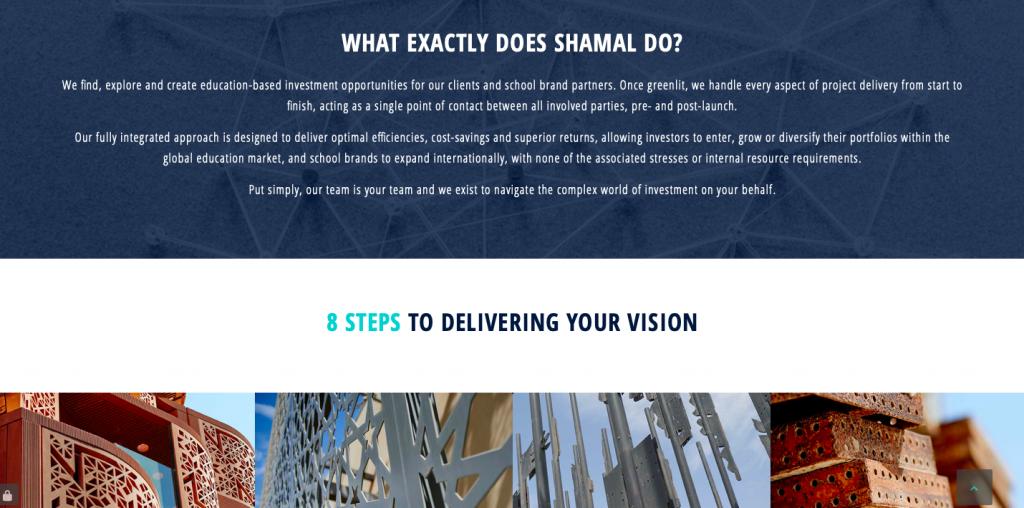 rikkiwebster.com website design and build shamal group investment in global education 2