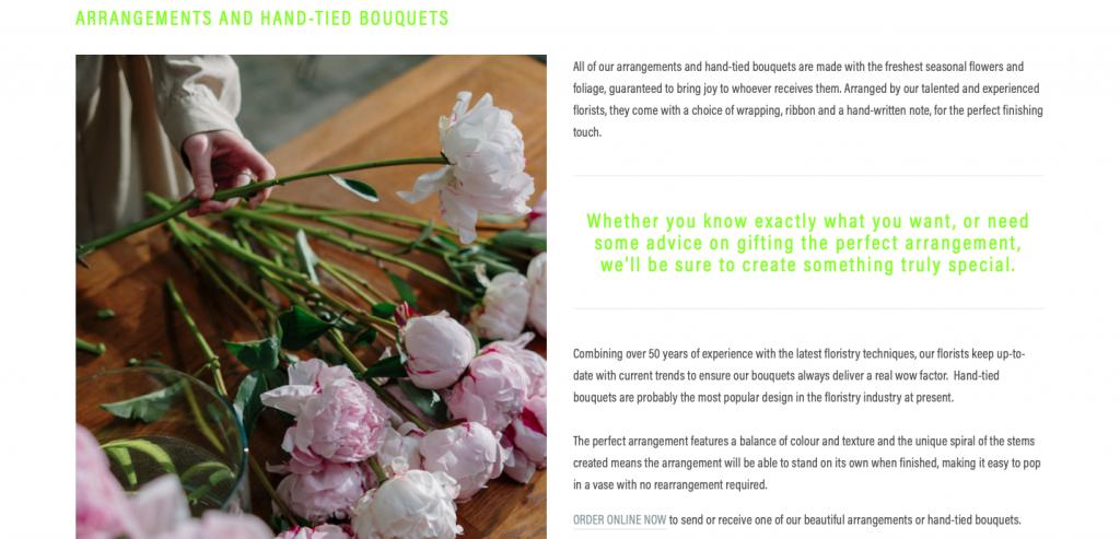 l cook florist ecommerce website build and design rikkiwebster.com