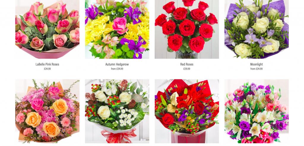 lcook florist website build and design rikkiwebster.com 1