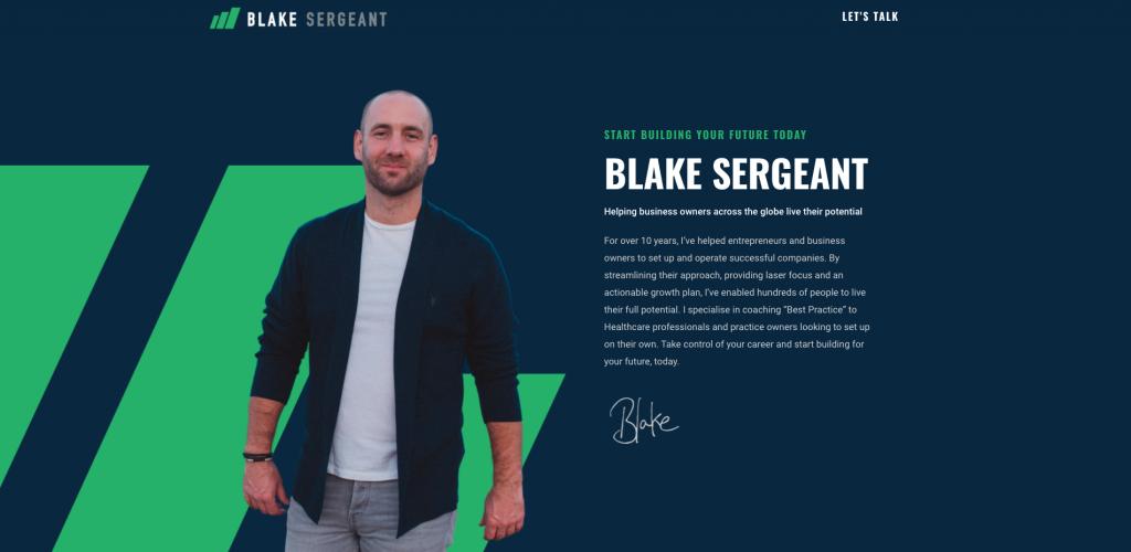 blakesergeant.com site by rikki webster ltd