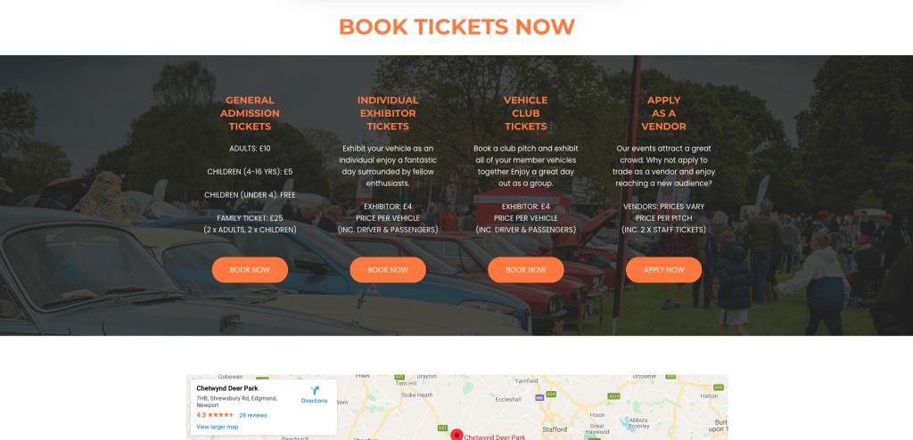 Classic Motor Events Website Rebuild