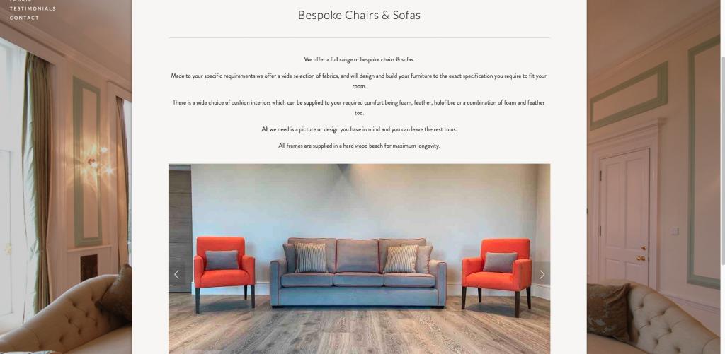 Upholstery by Design website refresh